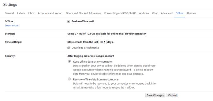 Mode Offline Gmail 2
