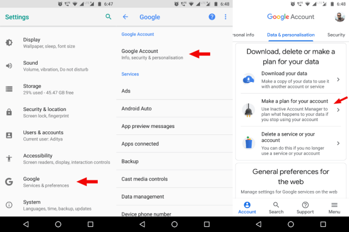 Delete Google Account After Death 10 Android