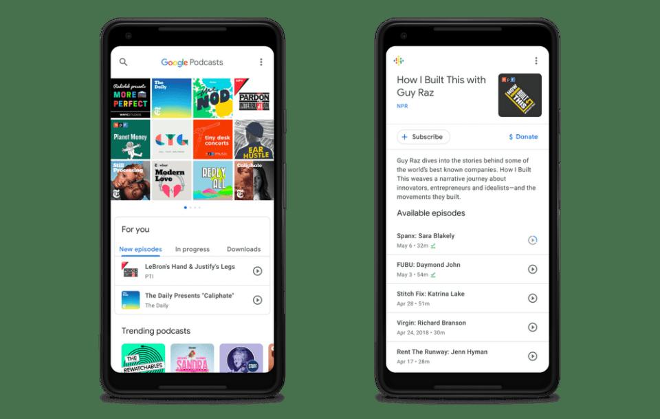 Aplikasi podcast Google