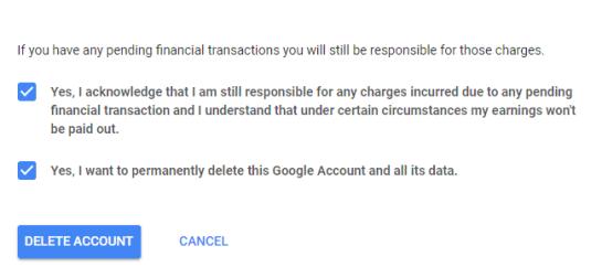 Delete Google Account Permanently 3