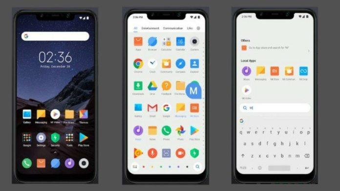 Xiaomi Poco F1 Launcher