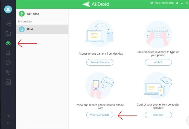 Hot to Steam Android di AIrDroid