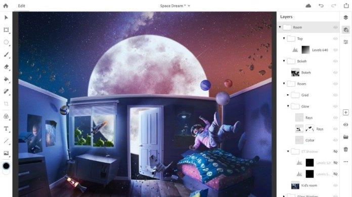 Adobe Photoshop CC iPad Tiba Pada 2019 Dengan Fitur Sinkronisasi Desktop