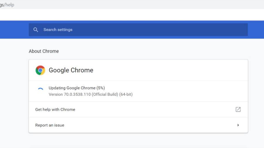 Chrome Build 71