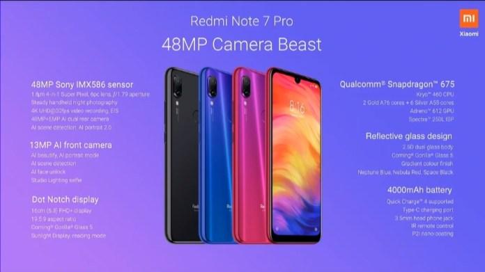 Redmi Note 7 Pro Specs