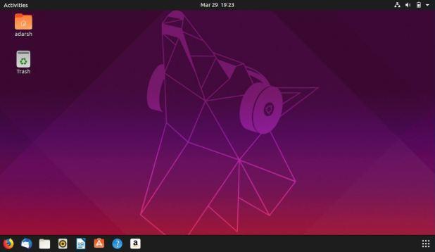 standard desktop ubuntu 19.04