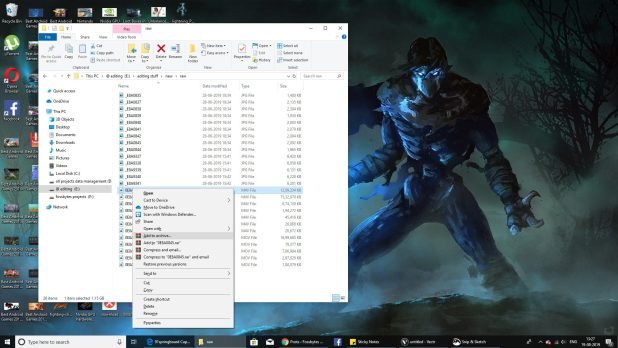 File compression in Windows
