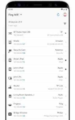 trouver analyseur de réseau android