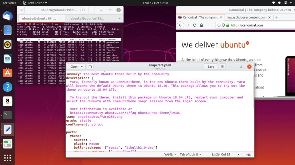 Ubuntu 19.10 Light Theme