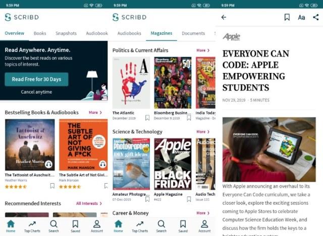 Scribd News app Android