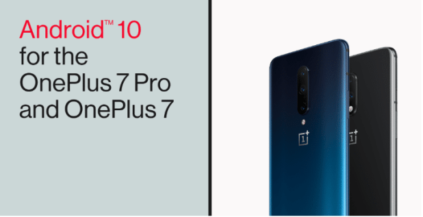 Android 10 pour OnePlus 7