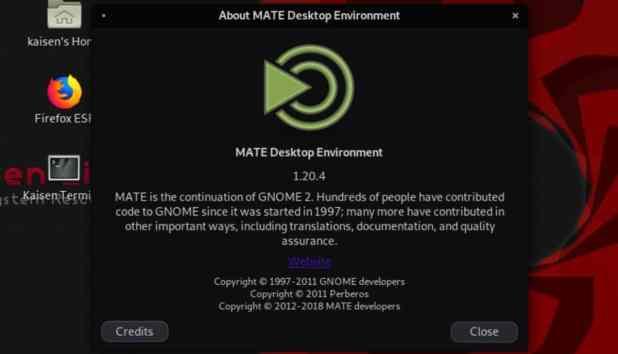 kaisen inux mate desktop environment