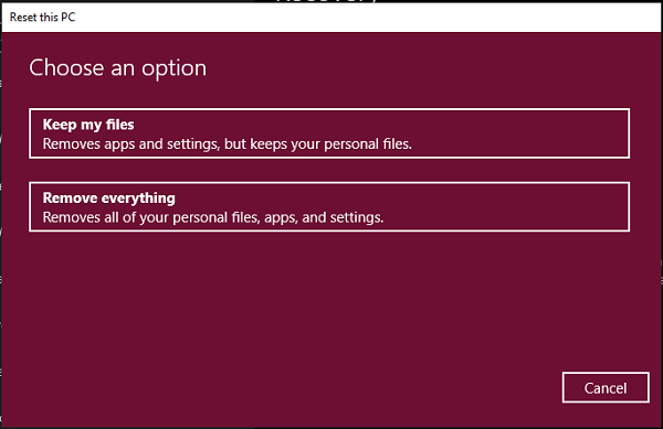 Windows 10 supprime tout