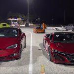 Tesla Model S Competes Against Hybrid Acura Nsx Electric Vs Hybrid