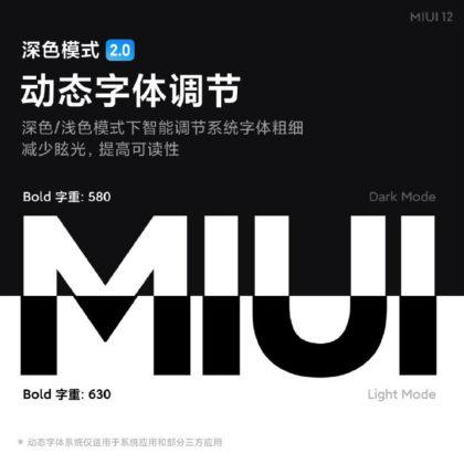 Berat font MIUI 12