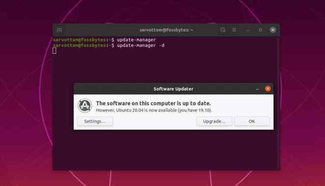 Nova versão do Ubuntu disponível