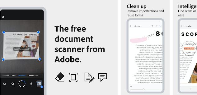 Adobe Scan Cam Scanner Alterntive