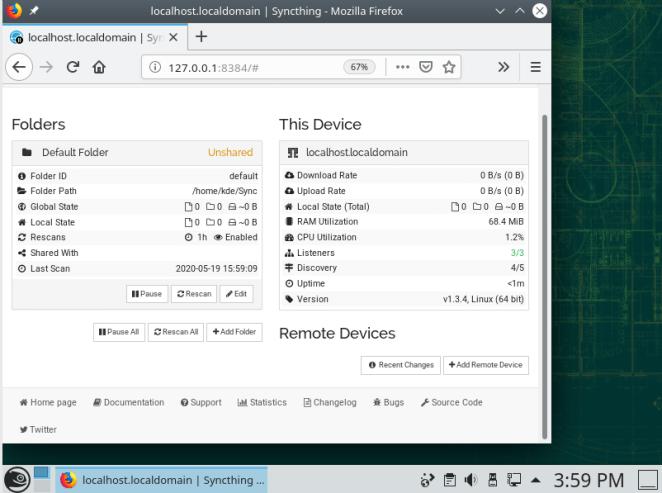 Sincronizando 1.3.4 No KDE Leap 15.2