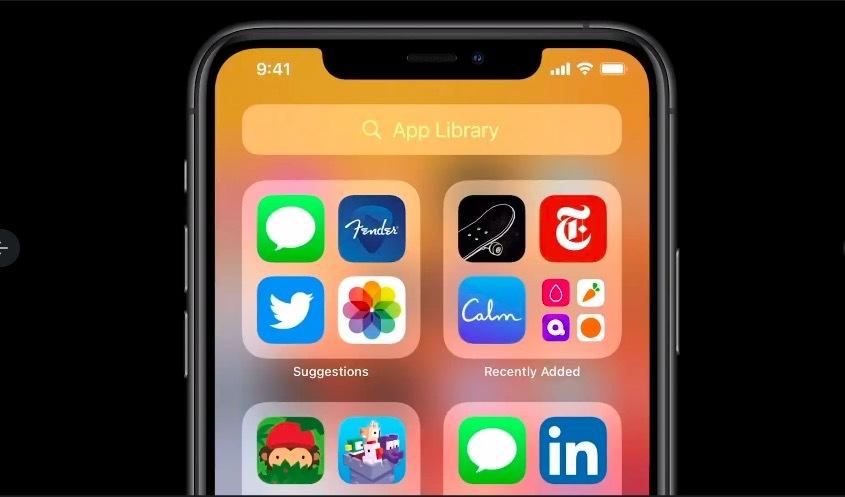 Pustaka aplikasi iOS 14