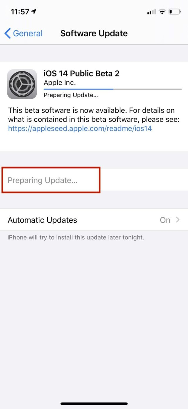 Download and install iOS 14 update