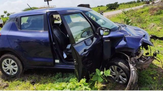 maruti Suzuki Swift after impact with Tata Tiago