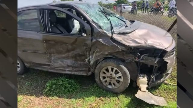 Tata Tiago and Maruti Swift accident