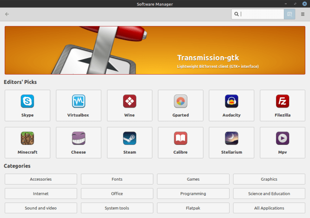 Linux Mint Software Manager