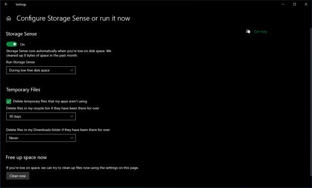 Best PC Cleaner Windows 10 Storage Sense app