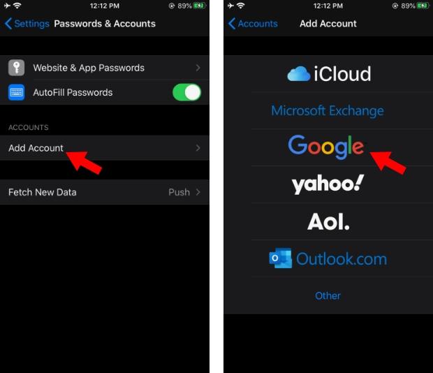 Перенос контактов Android iPhone Синхронизация контактов 2