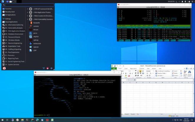 Win-KeX 2.0 para Kali Linux roda em WSL 2