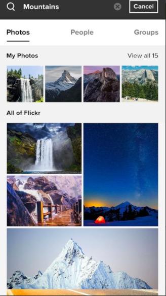 Flickr photo backup app