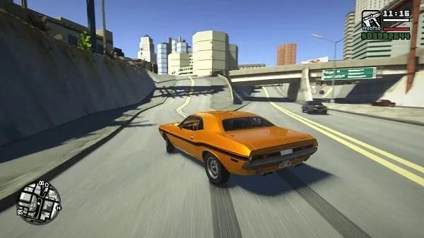 GTA 5 graphics in San Andreas