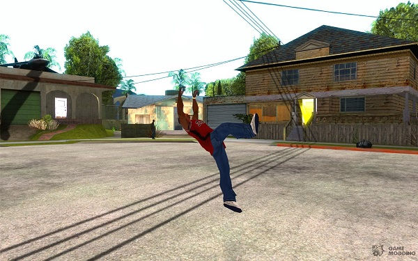 Parkour mod in San Andreas