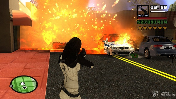 visual effects in GTA San Andreas