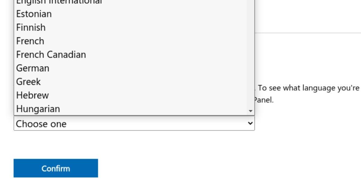 windows 10 select language