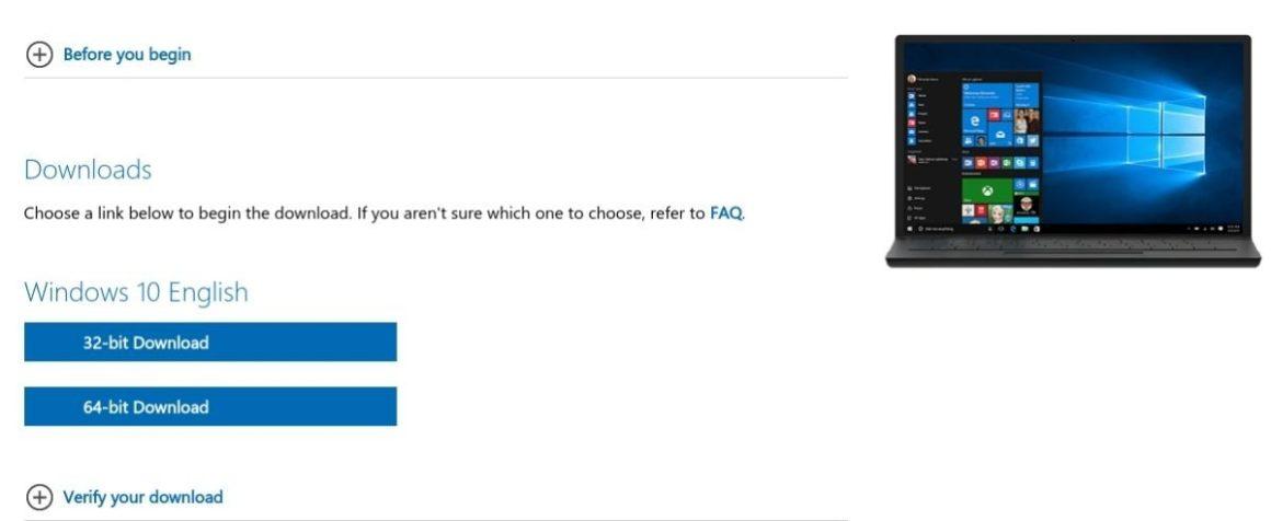 Windows 10 выберите версию