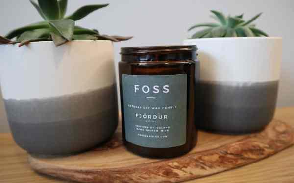 Fjörður Candle with Plants