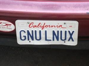 Linux LUG license plate