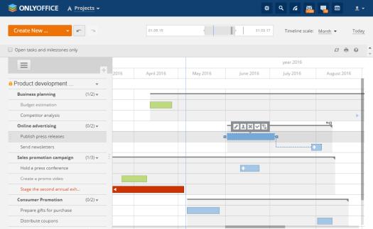 Gantt Chart View in OnlyOffice