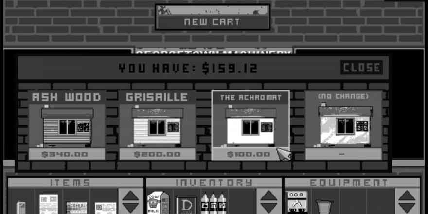Cart Life - a Free Retail Simulation Game where you control 3 different vending jobs