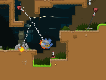 Teeworlds an online multiplayer side scrolling shooting game