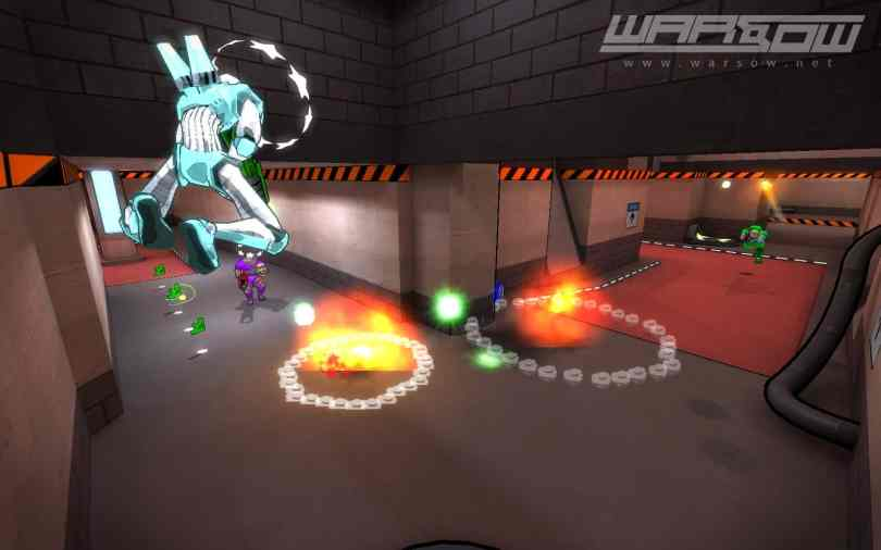 Warsow - a Free FPS Game with Cartoonish Graphics and Parkour