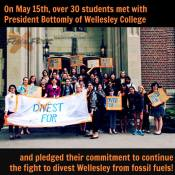 Students urge President Bottomly to make divestment a priority for Wellesley