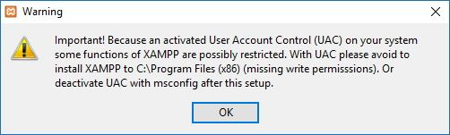 xampp warning windows