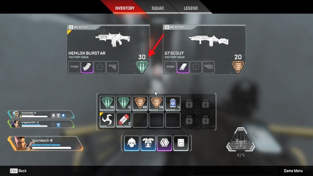 color coded weapons