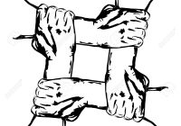 hands-holding-each-other-in-unity-Stock-Vector