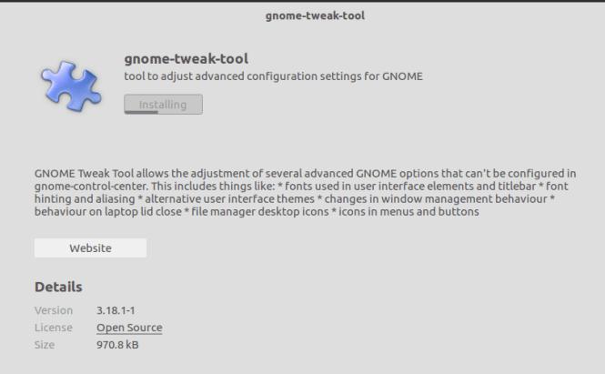 gnome tweak tool installation