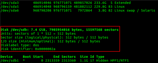 fdisk disk drive search