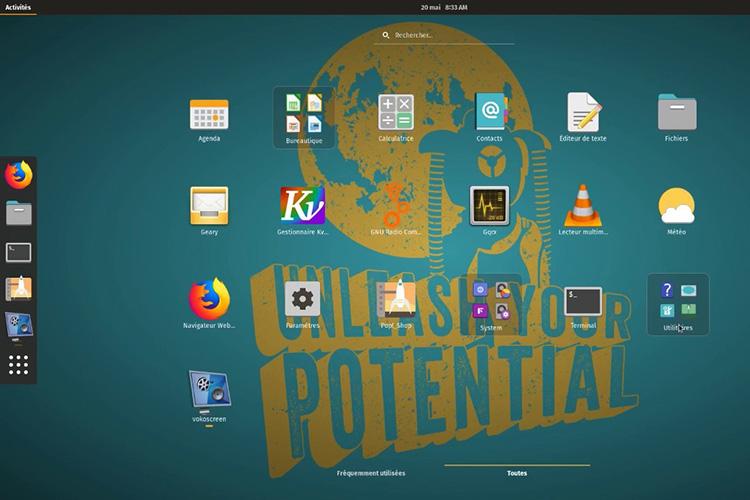 POP OS Theme Screenshot