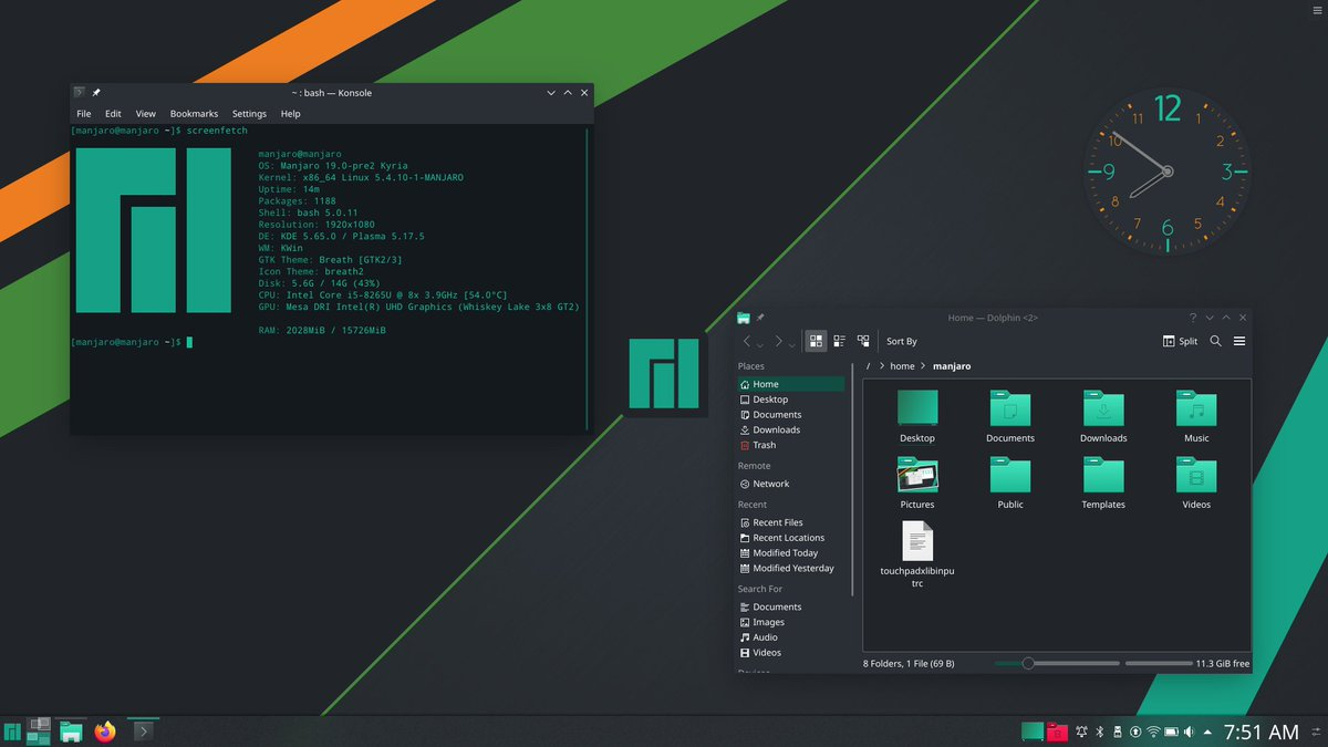 Manjaro KDE Screenshot